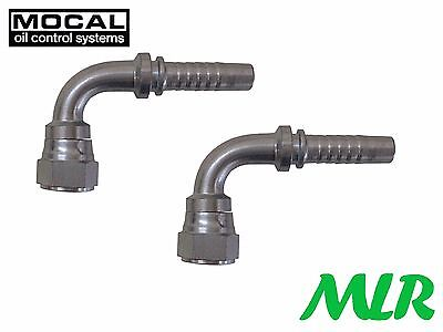 MOCAL HEF97-6 90° -6JIC CARBURANT/DURITE HUILE TUBE RACCORD UNION POUR 10mm