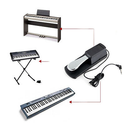 Sustained Pedal Foot Switch Accessories Keyboard Electronic Piano MIDI Universal