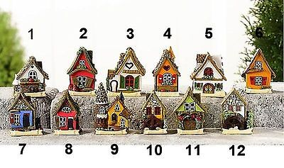 Miniature Fairy Garden Micro Mini Cottages - Your Choice - Buy 3 Save $5