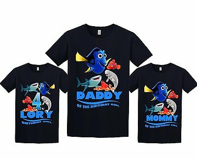 Finding Dory Birthday Shirt Personalized Custom T Shirt Family Black shirts