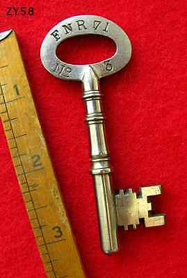 Rare Old Skeleton Key From Victorian UK Insane Asylum Mental Hospital A+ Cond.