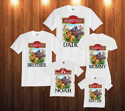 Personalized Custom The Lion Guard  Birthday T Shirt Family Shirts