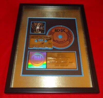 AC DC Stiff Upper Lip RIAA GOLD Cassett and CD Award Extremely RARE
