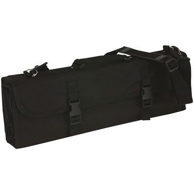 Chefs Knife Wallet Knife Case Knives Roll 16 Compartment Black Nylon