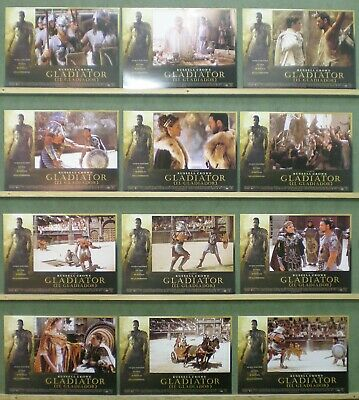 UN72 GLADIATOR RUSSELL CROWE RIDLEY SCOTT OSCAR Lobby Set Spain