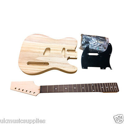 Coban DIY Electric TL90 lightweight body, maple neck, rosewood frets black fit