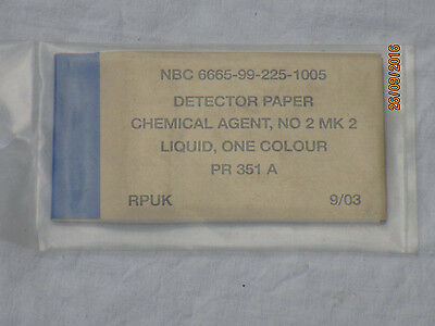NBC Detektor Paper Chemical Agent No.2 MK2, Liquid One Colour, 09/03
