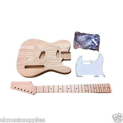 Coban DIY Electric TL290 US Ash body, maple neck, Maple frets White fit