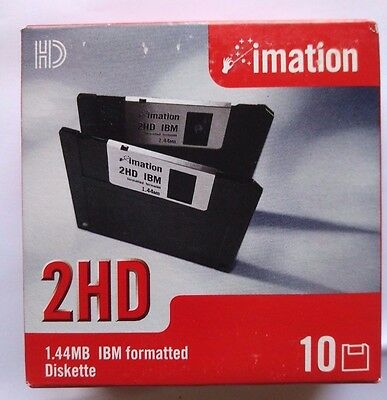 """Imation 10x Black HDD PC Formatted 3.5"""" Floppy Disks Diskette Brand New Sealed"""