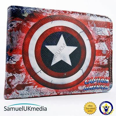 Awesome Marvel Captain America American Flag Style Bi-Fold Wallet