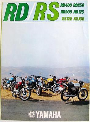 YAMAHA RD / RS Motorcycles Range Sales Brochure 1977 #LIT-3MC-0207050-77