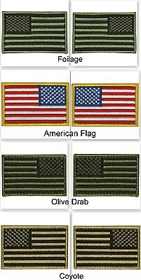 USA American Flag Tactical Army Morale Badge Hook & Loop Patch Set of 8 Uniform