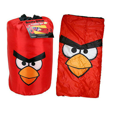 Rovio ANGRY BIRDS RED Indoor Slumber Sleeping Bag For Kids w/ Carry Drawstring