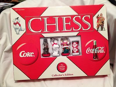 Coca Cola VS Coke Chess Set - Collectors Edition - 2002 NIB