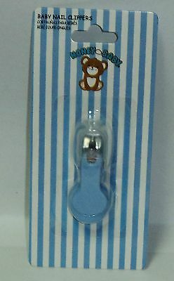 HONEYBABY Nail Clippers For Baby Toddlers Stainless Steel Non Toxic BLUE NIP
