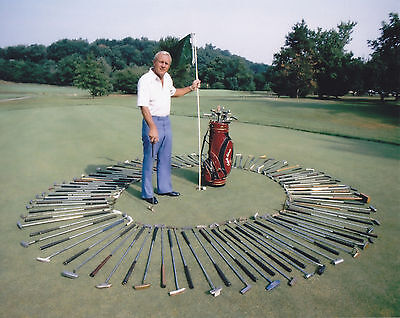 ARNOLD PALMER GOLFING LEGEND IN THIS color CLASSIC 8X10 PHOTO
