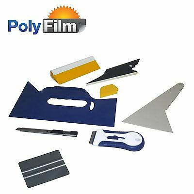 8pc Professional Window Tint Tools Kit Car House Office Film Squeegy Knife Set