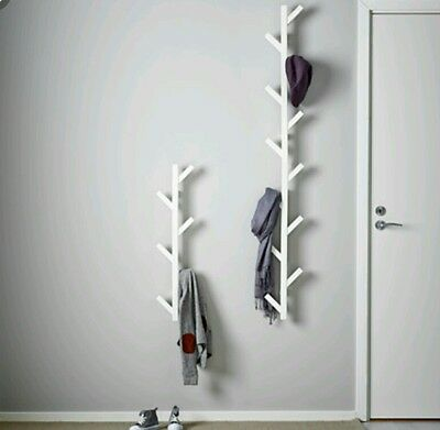 Ikea TJUSIG Wall Hanger Hat Rack Coat Rack WHITE tree branch style hard to find