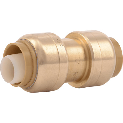 "Sharkbite U004LF 1/4"" X 1/4"" (3/8"" OD) Lead Free Coupling Push-Fit Connection"
