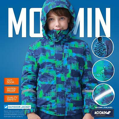 Moomins Spring Boys basic Outdoors jacket coat outfits waterproof windproof Blue