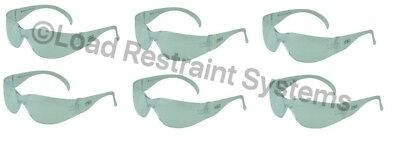 (6 Pack) Clear Safety Glasses, Eye Protection, Texas Safety Specs