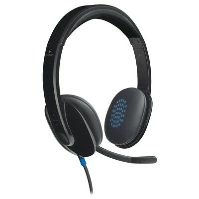 Logitech H540 USB Headset Stereo Sound Control Crystal Clear with Mic for PC Mac