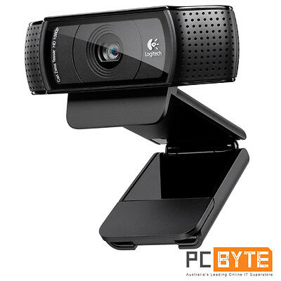 Logitech C920 HD Pro Webcam Full HD 1080p Video Autofocus Carl Zeiss Optics 15MP