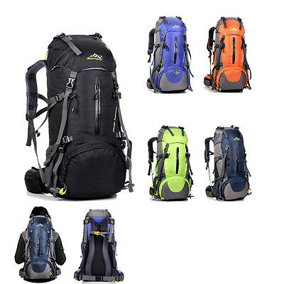 50L Sport Camping Hiking Rucksack Shoulders Bag Climbing Backpack Outdoor Travel