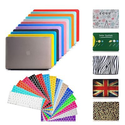 """For MacBook Air Pro Retina 11"""" 12"""" 13"""" 15"""" Rubberized Case + Keyboard Cover Skin"""