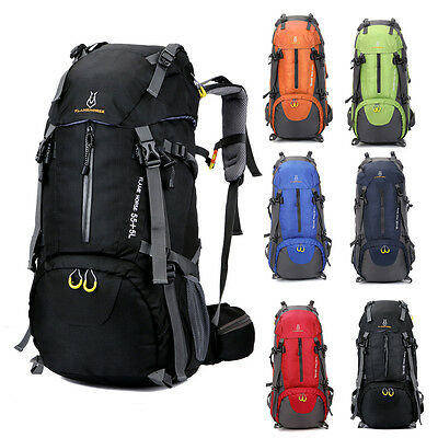 60L Outdoor Sport Hiking Camping Travel Backpack Daypack Trekking Rucksack