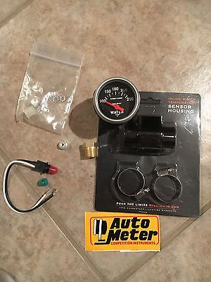 Auto Meter 3337 Sport Comp Electric Water Temperature Gauge with extras