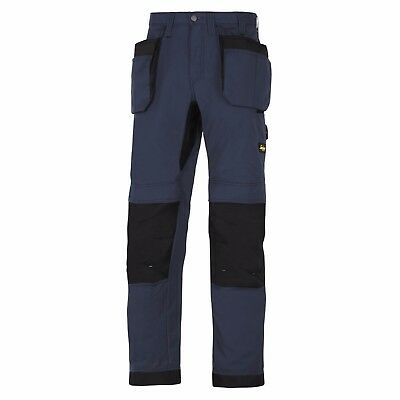 Snickers 6207 LiteWork Trousers Holster Pockets Mens Snickers Ripstop Navy