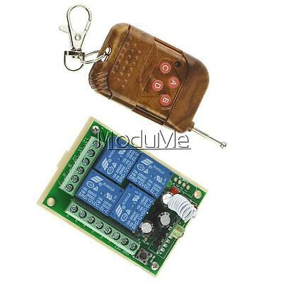 12V 10A 4CH Channel Wireless RF Remote Control Switch Transmitter + Receiver MO