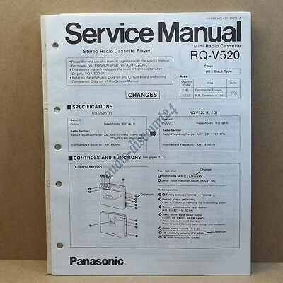 PANASONIC RQ-V520 * SERVICE MANUAL (intern:L18)