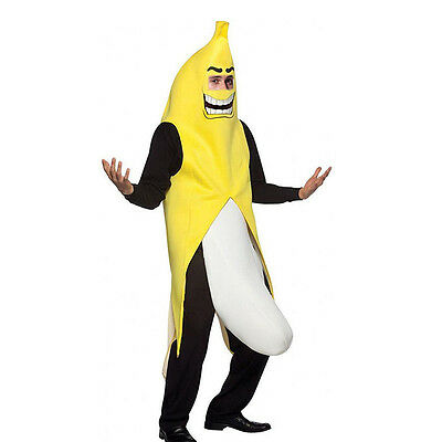 Banana Costume Men Cosplay Adult Funny Halloween Christmas Party Fancy Dress