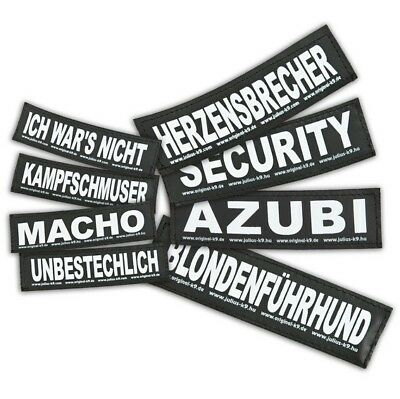 Julius K9 Klettsticker S 11 x 3 cm Logo Sticker f. Powergeschirr Baby 2 Geschirr