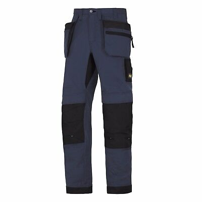 Snickers 6206 LiteWork Trousers Holster Pockets Mens Snickers Ripstop Navy