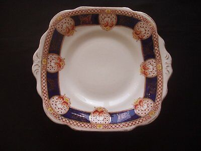 ROYAL VALE CHINA -H.J.C. LONGTON -SQUARE SANDWICH / CAKE PLATE -c.1930s