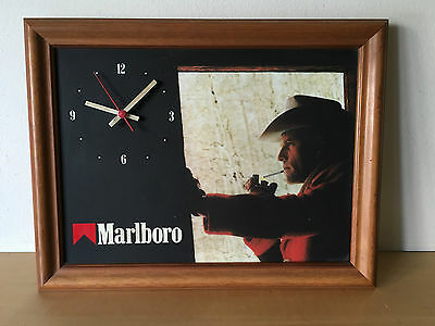 Used - Wall Clock Quartz MARLBORO Reloj Pared de Cuarzo - It does NOT WORK Usado
