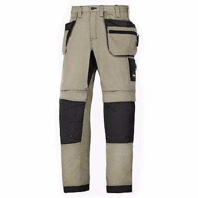 Snickers 6206 LiteWork Trousers Holster Pockets Mens Snickers Ripstop Khaki