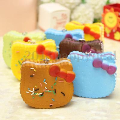 1PC Random Kawaii Soft Bread Cookie Cell Phone Charms Strap Pendant Decoration