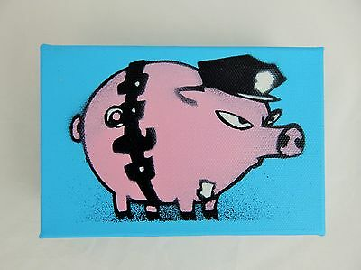 MAU MAU - Flat Top Pig - Rare Gallery Stretch Canvas - Ready To Hang  - Sold Out