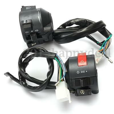 """Motorcycle 7/8"""" 22mm Handlebar Control Horn Turn Signal Electrical Start Switch"""