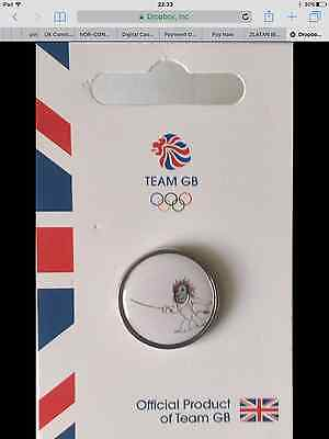 Official Team Gb Rio 2016 Olympic Pin - Pride Fencing Very Rare Only 500 Made!!