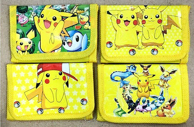 New Kids Pokemon Go Pikachu Cartoon Coin Money Pouch Bag Purse Wallet Xmas Gifts