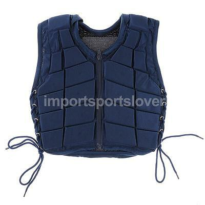 New Safety Horse Riding Vest Equestrian Body Protector Navy Youth Adult All Size