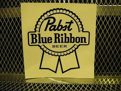 PBR PABST BLUE RIBBON Beer ~ NEW ~ STICKER 5.5 X 6 Clear Logo Decal