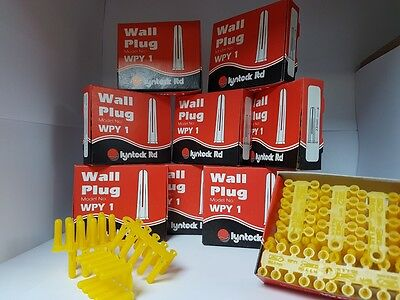 10 Packs Of Yellow Lynteck Wall Plug For Only £9.99