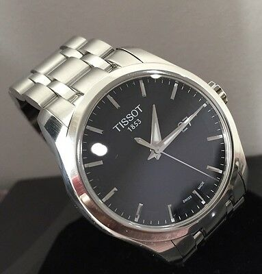 Men's Tissot Couturier T035410A Serviced Warranty Sapphire Crystal Black Dial