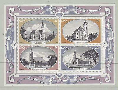 (Ml 8) Churches Miniature Sheet From South West Africa 1978 Mnh Sg 323